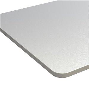Table pour bureau d'United Canada moderne contemporain ajustable, 60po, blanc mat