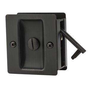 Serrure carrée pour porte coulissante de Weiser, bronze