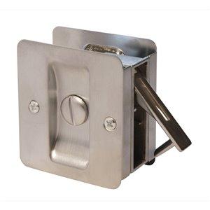 Serrure carrée pour porte coulissante de Weiser, nickel satiné