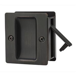 Serrure carrée pour porte coulissante de Weiser, bronze vénitien