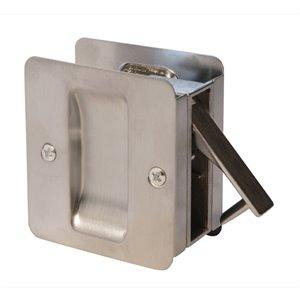 Serrure carrée pour porte coulissante de Weiser, chrome