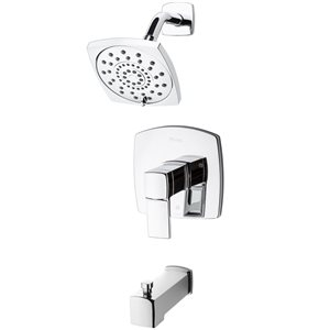 Robinetterie de bain et douche à 1 poignée Deckard de Pfister, chrome poli