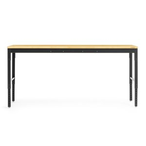New Age Products Pro Series Workbench Set - Bamboo Worktop - Black - 2-Piece