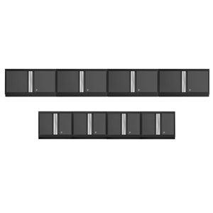 Armoires en acier Bold Series de New Age Products, capacité de 800 lb, 8 mcx, gris