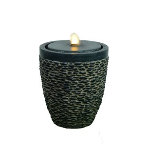 Hi-Line Gift Medium Stone Fountain with Flame-Effect LED