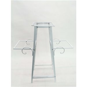 Hi-Line Gift 3-Tier Plant Stand - White