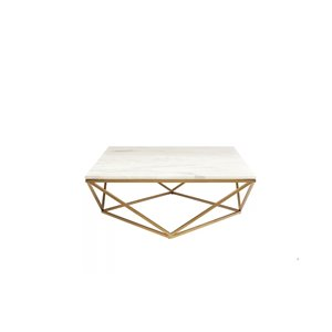 Plata Import Contemporary Faux Marble Coffee Table - Square