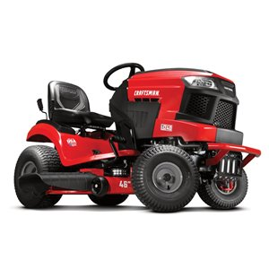 Craftsman22-HP V-Twin Engine with Foot Pedal Hydrostatic Riding Lawn Mower - 46-in