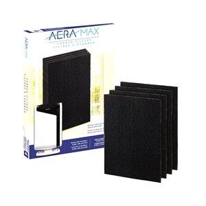 Filtre à charbon actif de rechange pour Aeramax 290/300/DX95 de Fellowes, grand, paquet de 4