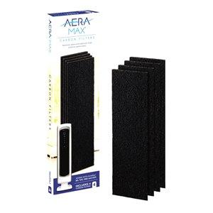 Filtre à charbon actif de rechange pour Aeramax 90/100/DX5 de Fellowes, petit, paquet de 4