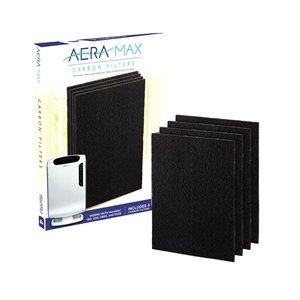 Filtre à charbon actif de rechange pour Aeramax 190/200/DX55 de Fellowes, moyen, paquet de 4