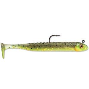Leurre à pêche Searchbait Minnow de Storm, 3,5 po, Hot Olive