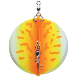 Leurre à pêche Dipsy Diver de Luhr Jensen, 30 pi, Orange Fire