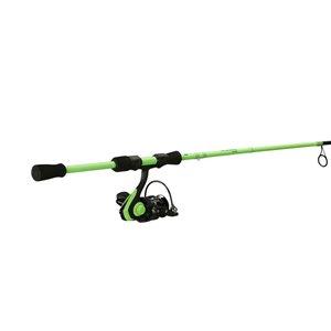 Canne et moulinet à pêche Code Spinning de 13 Fishing, puissance moyenne-légère, 5 pi 6 po, Neon