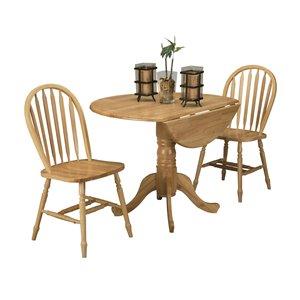 Table de salle à manger ronde avec rallonge Laurentian de HomeTrend, bois, naturel