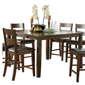 Table de salle à manger moderne rectangulaire avec rallonge Mantello de HomeTrend, bois de placage, cerise