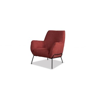 Chaise d'appoint moderne en polyester Lilly de HomeTrend, rouge