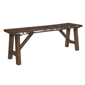 Banc rectangulaire de salle à manger en bois Whittaker de HomeTrend, brun