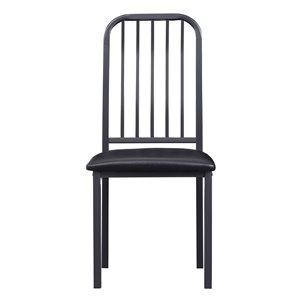 Chaise d'appoint traditionnelle Tripp de HomeTrend, similicuir noir, 2 pièces