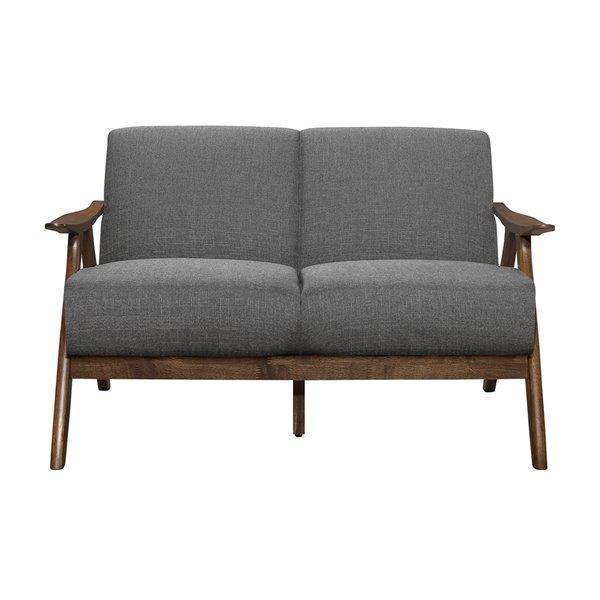 HomeTrend Damala Modern Loveseat - Polyester - Grey