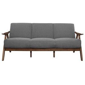 Sofa moderne Damala de HomeTrend, polyester, gris