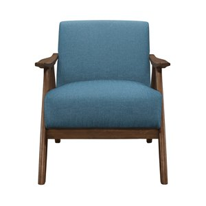 Chaise d'appoint moderne en polyester Damala de HomeTrend, bleu