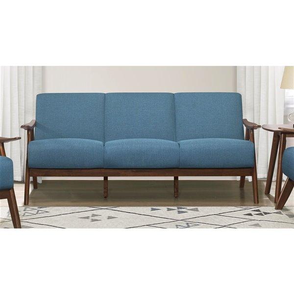 HomeTrend Damala Modern Sofa - Polyester - Blue