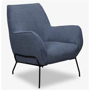 Chaise d'appoint moderne en polyester Lilly de HomeTrend, bleu