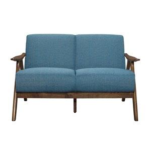 Causeuse moderne Damala de HomeTrend, polyester, bleu