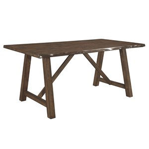 Table de salle à manger rectangulaire fixe Whittaker de HomeTrend, bois, brun
