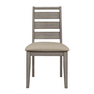 Chaise d'appoint de style transitionnel Bainbridge de HomeTrend, polyester/mélange de polyester, brun, 2 pièces