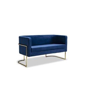 Causeuse moderne Betto de HomeTrend, velours, bleu marin