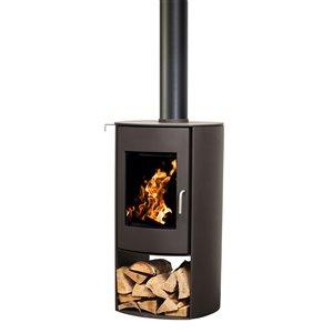Poêle à bois combustible Nectre N65 - Aire de chauffage de 2150 pi²  - noir