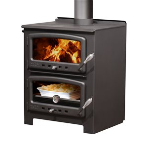 Nectre Firewood Wood Stove N550 - 1000-sq. ft Heating Area - Black
