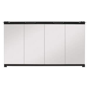 Dimplex BF Bifold Fireplace Door with Clear Tempered Glass - 35-in to 43-in W x22-1/2 in to 27-1/2-in H - Clear
