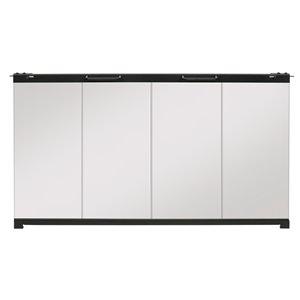 Porte de foyer électrique BF pliante de Dimplex en verre trempé, 30po à 37po L x25 1/2po à 32 1/2po H, clair