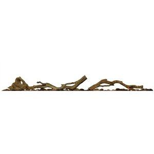 Bois de grève et pierres de rivière de XL Linéaire en plastique par Dimplex, marron