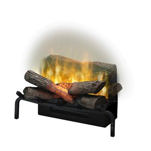 Dimplex Revillusion Plug-In Fireplace Logs Set with Remote - 5118-BTU - 20-in - Black