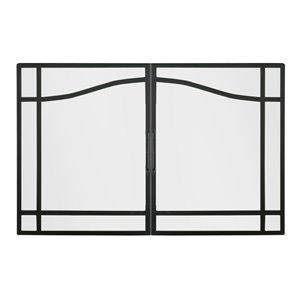 Porte de foyer électrique BF de style cabinet par Dimplex en verre trempé, 30po à 37po L x25 1/2po à 32 1/2po H, n