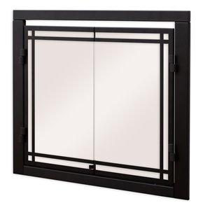 Porte foyer électrique Revillusion style cabinet par Dimplex en verre trempé, 30po à 37po L x25 1/2po à 32 1/2po H