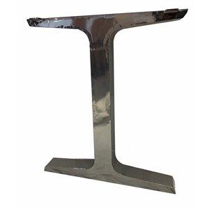 Patte de table contemporaine en T de Corcoran, 3 po x 24 po, acier inoxydable