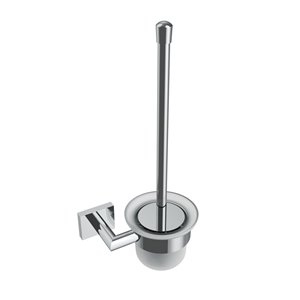 Volkano Crater Wall-Mounted Toilet Brush - Chrome