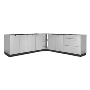 NewAge Products Outdoor Kitchen Modular Cabinet Set - Stainless Steel5-Piece