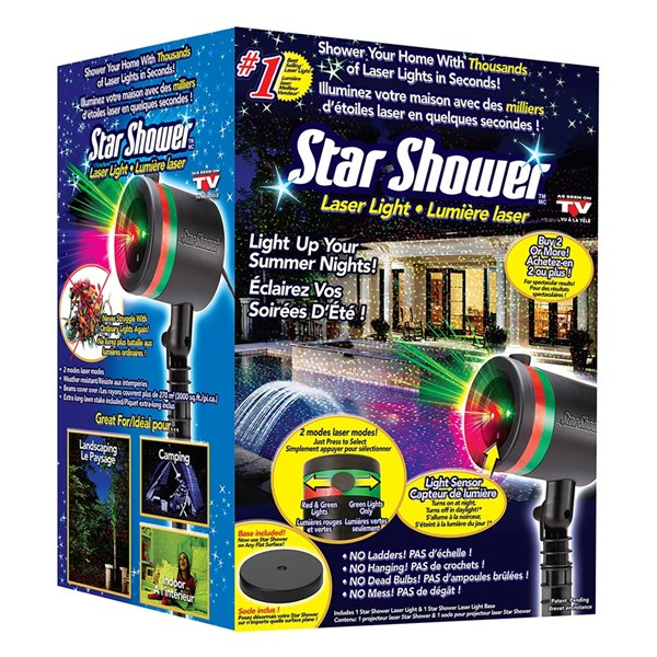 Star Shower Laser Light - Red and Green