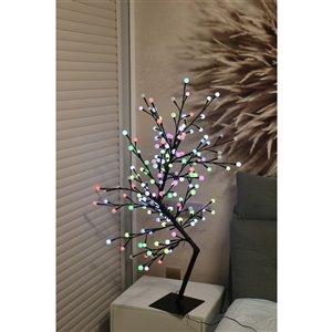 Hi-Line Gift43.3-in Artificial Bougainvillea Tree - Black/Multi