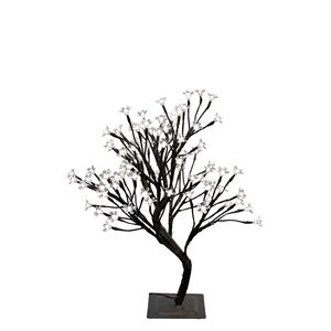 Hi-Line Gift22-in Artificial Ficus Tree - Black/White