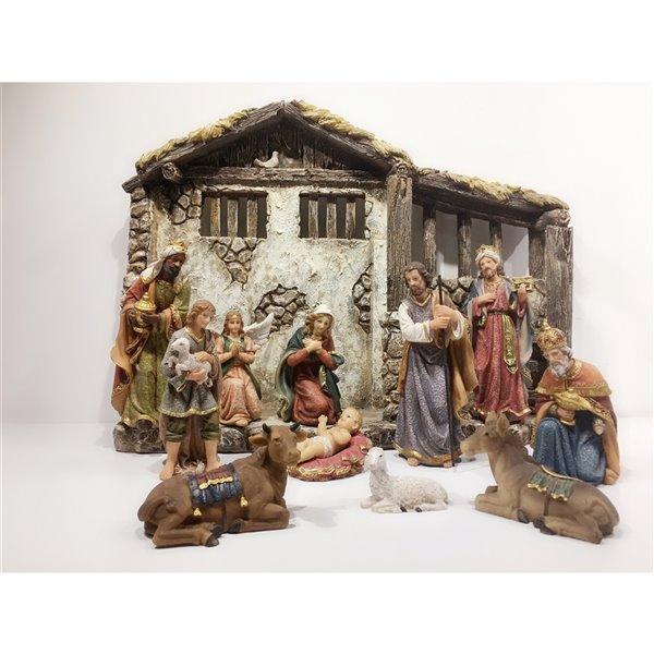 Hi-Line Gift 11-Pack Resin Nativity Figurines