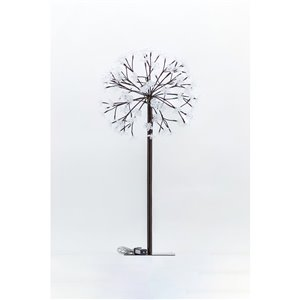 Hi-Line Gift35.43-in Artificial Peony Tree - Brown/White