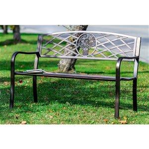 Hi-Line Gift23.6-in W x33.46-in L Conversation Bench - Bronze