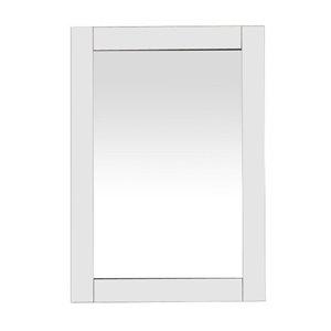 Miroir de salle de bain Selena de GEF, 24 po, rectangulaire, blanc